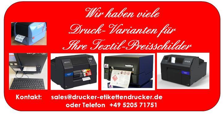 Textil-Preise drucken mit IDENTjet-Druckern
