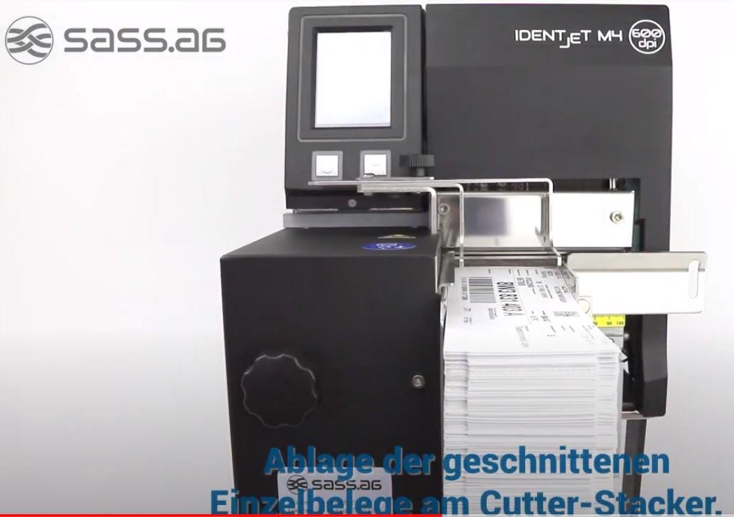 Thermodrucker mit Stapler für Essenleitkarten