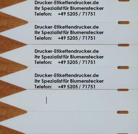 Gartenbau-Kennzeichnungen per Thermodrucker