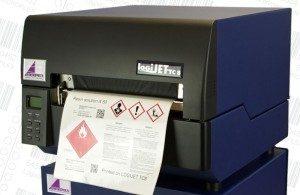 Thermotransfer mit 2 Druckwerken für GHS-Aufkleber