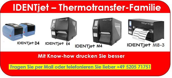 Thermotransferdrucker für den Barcode-Druck
