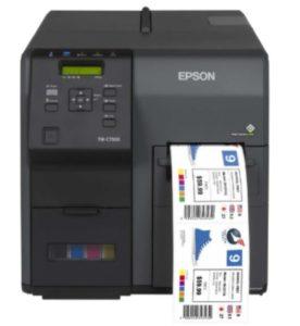 Tintenstrahl-Drucker für den farbige Etiketten und Tickets
