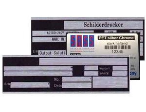 Typenschild-Etiketten und Drucker müssen zu einander passen.