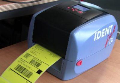 UPS-Versandaufkleber mit IDENTjet D4 gedruckt