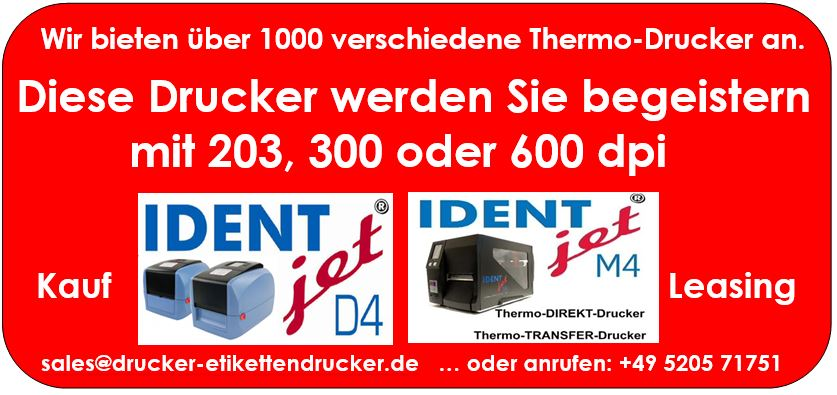 DPD-Etikettendrucker drucken auch ohne Farbband