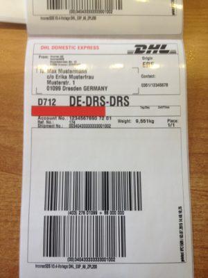 DHL Versandetiketten