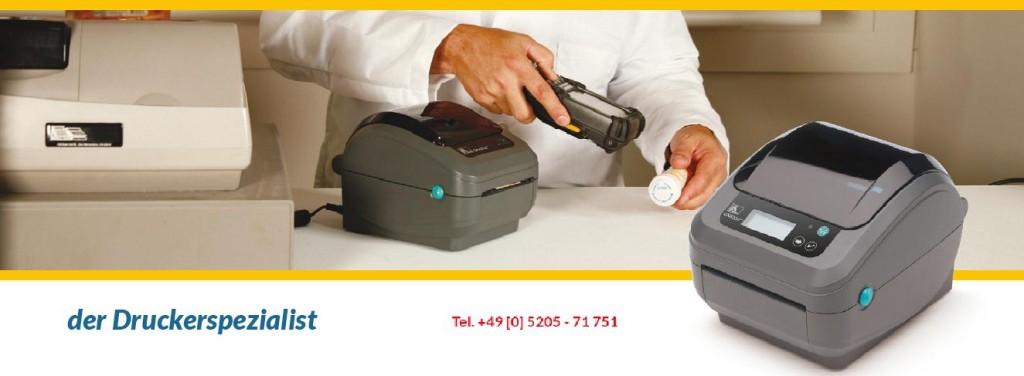 GK420d Thermodirekt-Drucker arbeiten OHNE Farbband