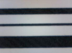 Barcode horizontal gedruckt mit Near-Edge-Drucker