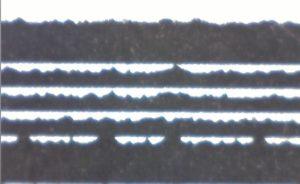 Barcode horizontal gedruckt