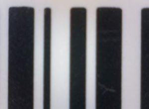 Vertikaler Barcode mit glatten Rändern