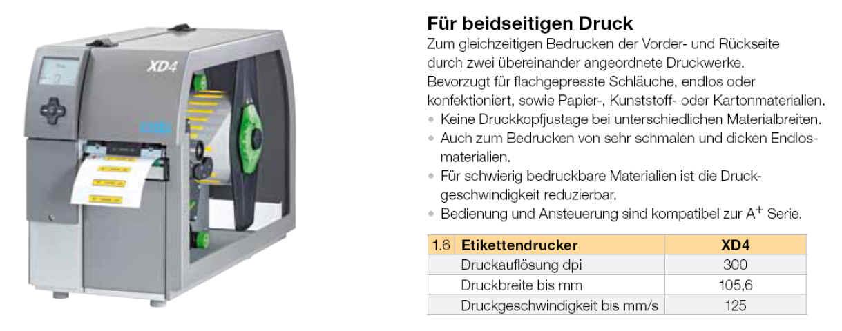 cab XD4+ Duplex - Der Thermodrucker mit Druck beider Seiten