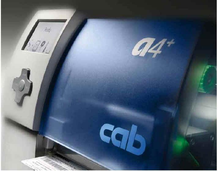 Die Druckermarke cab baut den a4+