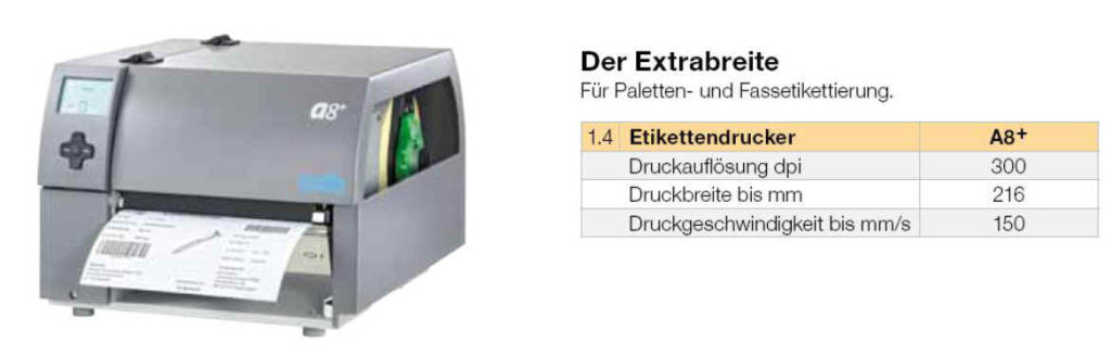 cab A8 Plus / A8+ als Transferdrucker / Thermodirektdrucker