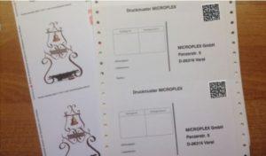 Dickes Papier bedruckenSie mit gleichem Design perThermodrucker