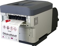 Farbige Etiketten im A5 oder gar A4-Format können Sie auch mit einemF26C Vollfarb-Etikettendrucker erstellen