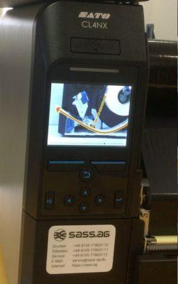 Intelligente Drucker zeigen den Materialwechsel